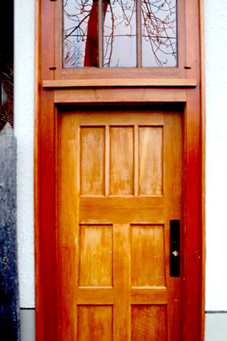 Exterior Door with Transom