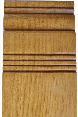 White oak milled door frame detail.