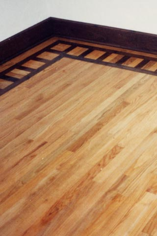 Custom wood floor.