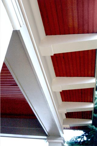 Covered porch millwork