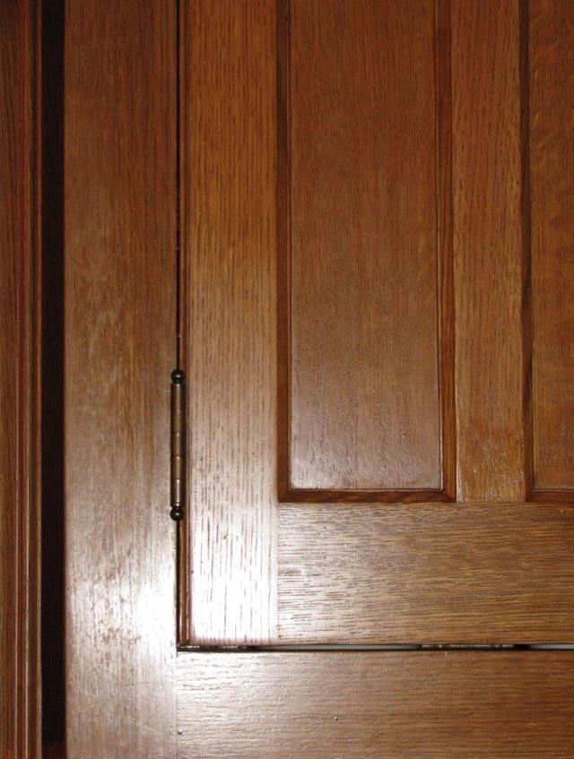 Victorian cabinet hinge.