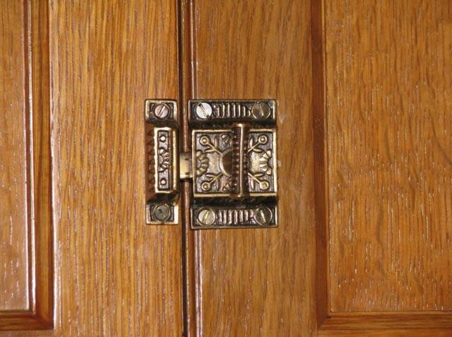 Victorian cabinet latch.