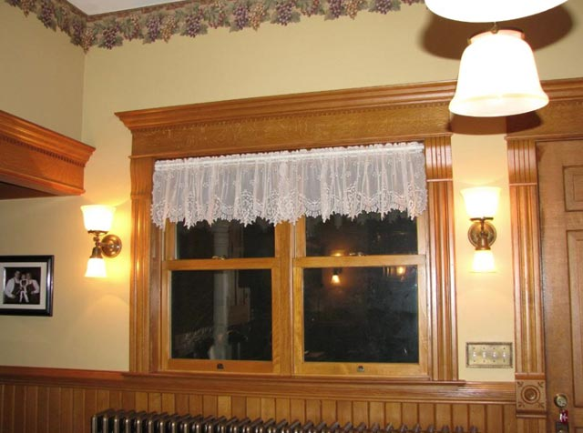 Custom wood window sash and trim.