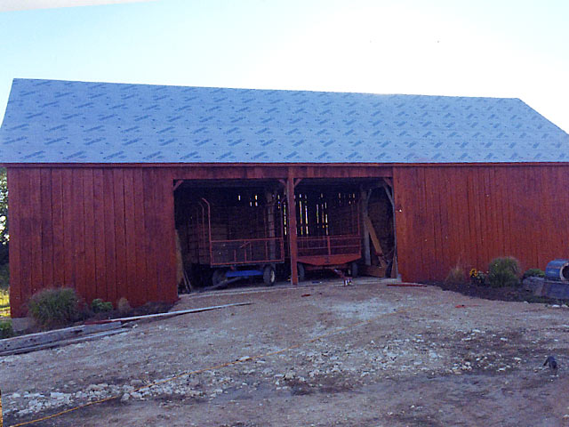 New barn prior to tin roof