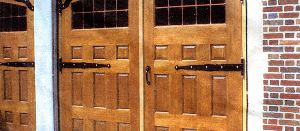 Custom wood carriage doors