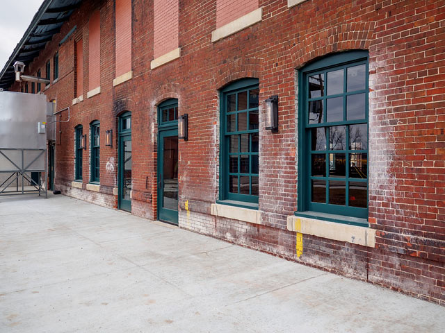 Custom Wood Windows City Lights Brewing Company