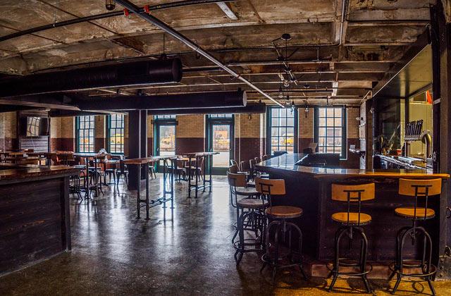Custom Windows From Inside City Lights Brewery