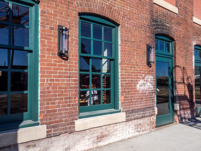 Custom Wood Windows City Lights Brewery