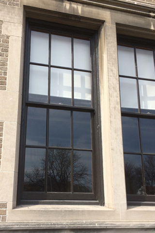 Close of window at Washington High School